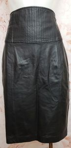 Marciano black Lambskin Leather skirt new size 4